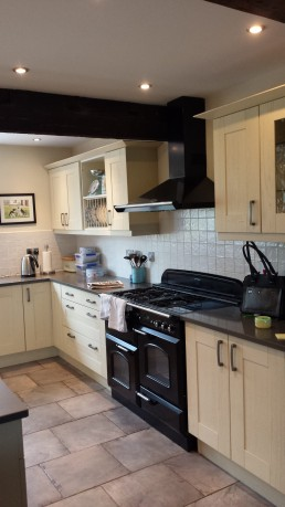 Cream Kitchen Units Resprayed